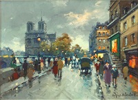 view of notre dame by antoine blanchard