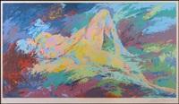 reclining nude by leroy neiman