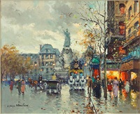 place de la republique by antoine blanchard