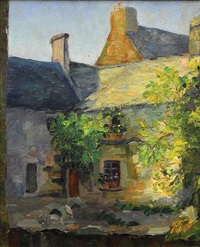 french courtyard by abel george warshawsky