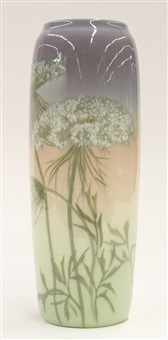iris glaze vase by sallie (sara elizabeth) coyne