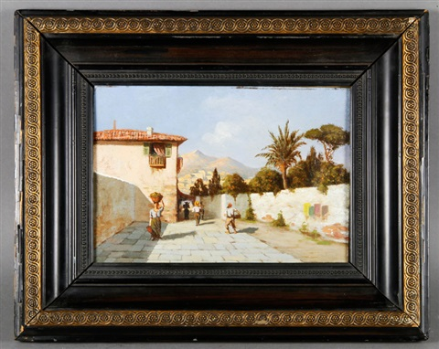 north african village scene by charles théodore frère bey frère