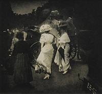 grand prix at long champ after the races, paris by edward steichen