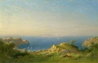 küstenlandschaft bei marseille mit blick auf les îles by carl morgenstern