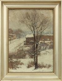 winter street scene by hal robinson