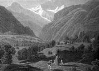 vue de ruines d'unspunnun près wilderswyl canton de berne by samuel frey