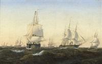 Segelschiffe auf dem meer sonnenuntergang  Carl Emil Baagøe | artnet