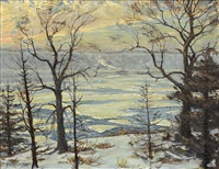 winter on the hudson river by hal robinson