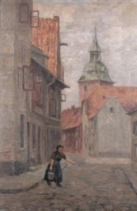 strasse in lüneburg by karl krummacher