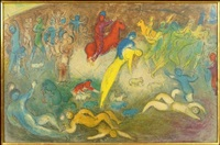 chloe is carried off by the methymneans by marc chagall