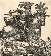 ritter auf einem prächtig geschmückten pferd by matthias (von nördlingen) gerung