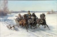 winter troika scene by m. kasparowicz