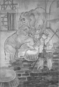 zoowärter mit elefanten by heinrich ehmsen