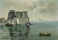castel dell'ovo (+ palazzo donn'anna am golf von neapel; 2 works) by fernando del basso