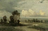 märkische landschaft mit ziehenden wolken by charles hoguet