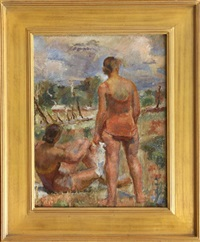 the sun bathers by gertrude partington albright