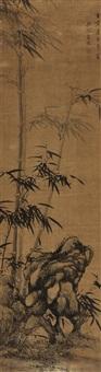 墨竹 (bamboo) by ma yu