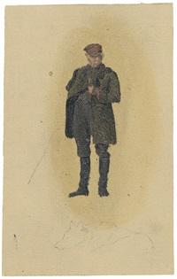 stehender landmann mit pfeife (+ 4 other oil studies and 1 watercolor; 6 works) by hugo konig