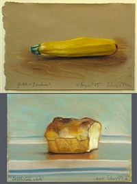 cobblestone white (+ golden zucchini; 2 works) by ben schonzeit
