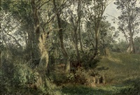 lichtdurchfluteter waldpfad by janus andreas barthotin la cour