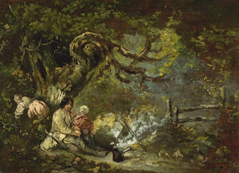 zigeuner am lagerfeuer by george morland