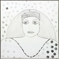 portrait of a woman by lee godie