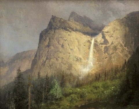 bridal veil falls yosemite by hermann herzog