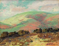 green and pink hills by selden connor gile