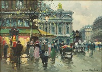 street scene by antoine blanchard