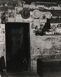 entrance to frank tengle's bedroom, hale country, alabama, summer by walker evans