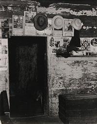 entrance to frank tengle's bedroom, hale country, alabama, summer by walker evans