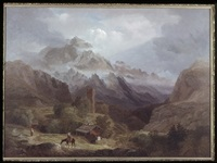 a study from swiss scenery by alvan fisher