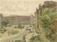 berlin, schloßplatz by otto antoine