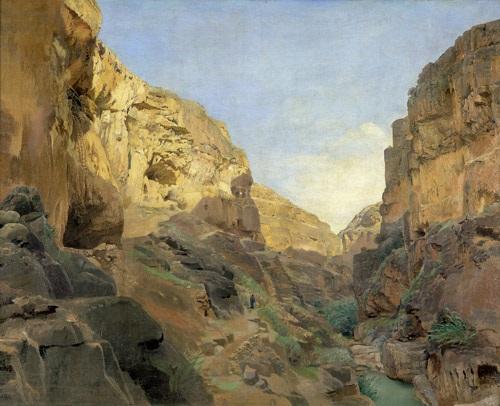 blick in das flusstal wadi kelt wadi qilt bei jerusalem by gustav bauernfeind