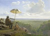 ein maler an einem frühen morgen im schwedischen skäralid in skåne by wilhelm pacht