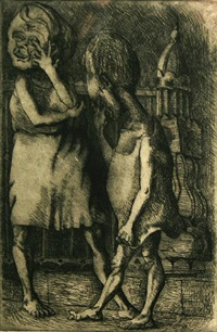 two figures by (lucien) alton pickens