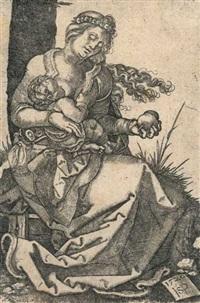 die jungfrau mit der birne by hans sebald beham