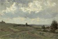 landschaft bei hopfgarten in thüringen by paul wilhelm tübbecke