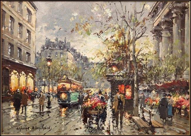 paris street scene by antoine blanchard