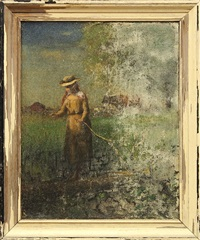 a timid step by george inness