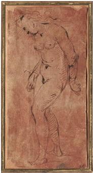stehender weiblicher akt by romanino (girolamo romani)