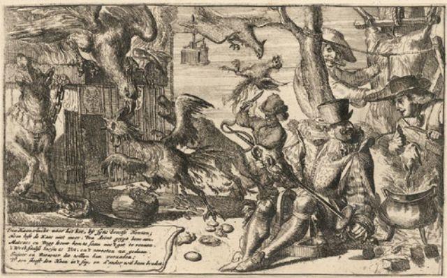 karikatur auf den gallischen hahn by romeyn de hooghe
