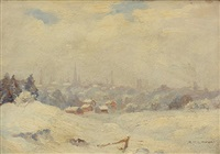 outskirts of brockville, late snow by robert henry lindsay