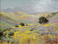 poppyfield with oaks by frank montague moore