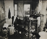 woman in slum dwelling by lewis wickes hine