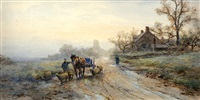 figure with horse and carriage by frank f. english