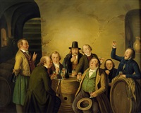 die weinprobe by johann peter hasenclever