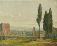 landschaft in der römischen campagna by johan rohde