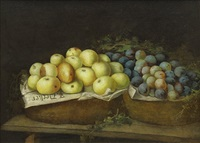 still life with fruit and vegetables by joseph decker