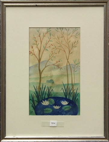paysage au petit étang by natalia sergeevna goncharova